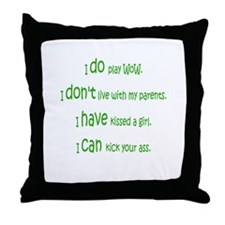 WoW Rules Throw Pillow