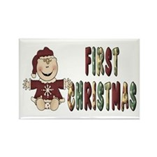 First Christmas Rectangle Magnet