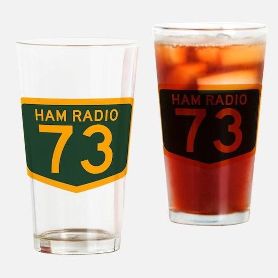 VK 73 Green+Gold Drinking Glass