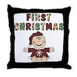 First Christmas Throw Pillow