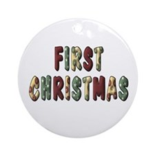 First Christmas Ornament (Round)