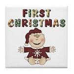 First Christmas Tile Coaster