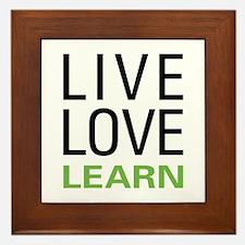 Live Love Learn Framed Tile