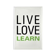 Live Love Learn Rectangle Magnet
