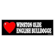 WINSTON OLDE ENGLISH BULLDOGGE Bumper Bumper Sticker