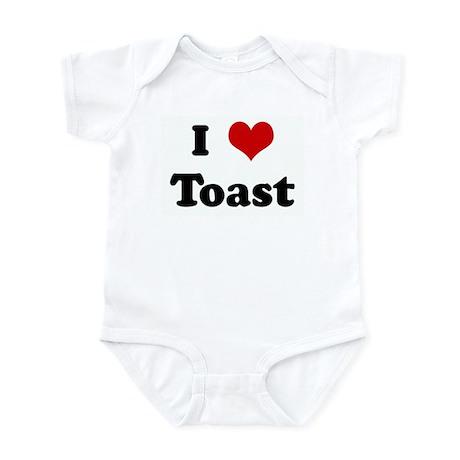 I Love Toast Infant Bodysuit