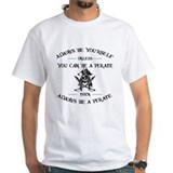 Pirate Mens Classic White T-Shirts