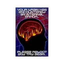 Brain Error #1 Rectangle Magnet