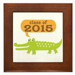 2015 Graduation alligator Framed Tile