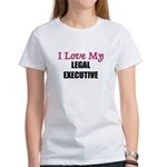 I Love My LEGAL EXECUTIVE Women's T-Shirt