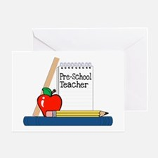 Pre-School Teacher (Notebook) Greeting Card