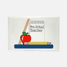 Pre-School Teacher (Notebook) Rectangle Magnet