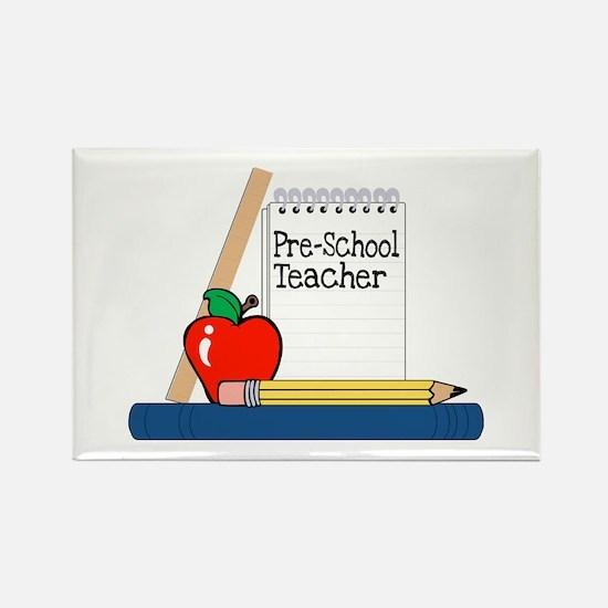 Pre-School Teacher (Notebook) Rectangle Magnet (10