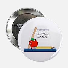"""Pre-School Teacher (Notebook) 2.25"""" Button (10 pac"""