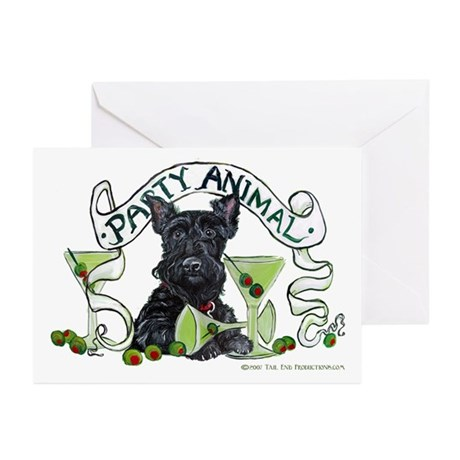Scottish Terrier Martinis Greeting Cards (Pk of 20