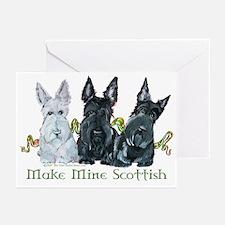 Scottish Terrier Trio Greeting Cards (Pk of 10)