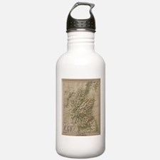 Vintage Physical Map o Water Bottle