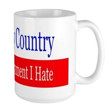 Love My Country Hate The Government Mug