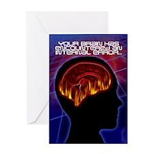 Brain Error #1 Greeting Card