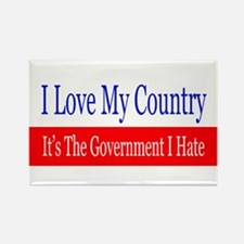 Love My Country Hate The Government Magnets