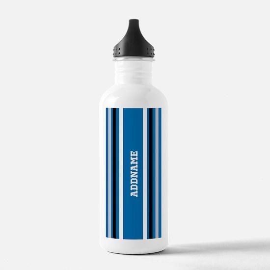 Blue Black White Jerse Water Bottle