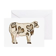 Love Cow Greeting Card