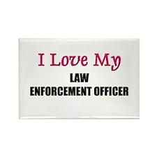 I Love My LAW ENFORCEMENT OFFICER Rectangle Magnet