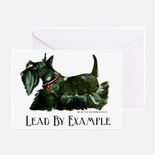 Scottish Terrier Leader Greeting Card