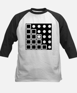 Squares Circles black and white Baseball Jersey