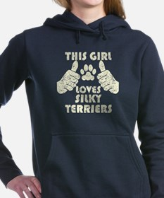 This Girl Loves Silky Terriers Women's Hooded Swea