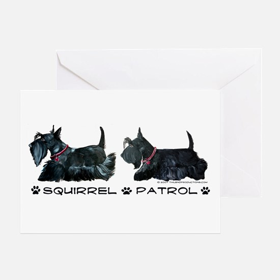 Scottie Squirrel Patrol Terri Greeting Card