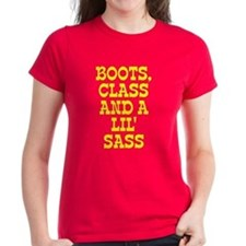 Boots class and lil sass Tee