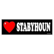 STABYHOUN Bumper Bumper Sticker