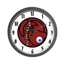 Fluffball Dragon Wall Clock