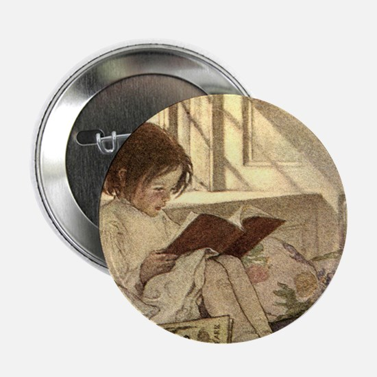 """Vintage Books in Winter, C 2.25"""" Button (100 pack)"""