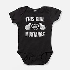 THIS GIRL LOVES MUSTANGS Baby Bodysuit