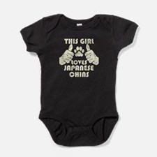 This Girl Loves Japanese Chins Baby Bodysuit