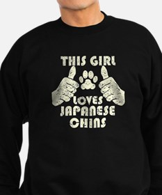 This Girl Loves Japanese Chins Sweatshirt