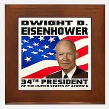 34 Eisenhower Framed Tile