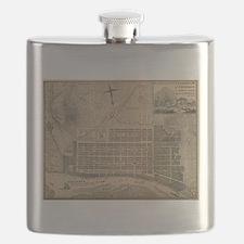 Vintage Map of Savannah Georgia (1818) Flask