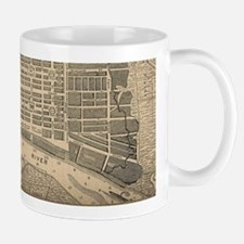 Vintage Map of Savannah Georgia (1818) Mugs