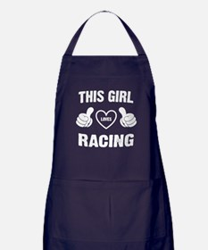 THIS GIRL LOVES RACING Apron (dark)