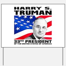 33 Truman Yard Sign