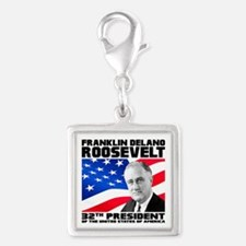 32 Roosevelt Silver Square Charm