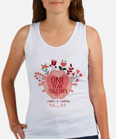 Personalized Retro Floral 1st Yea Women's Tank Top