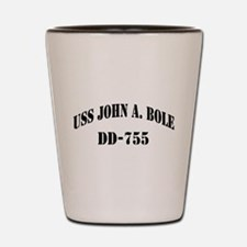 USS JOHN A. BOLE Shot Glass