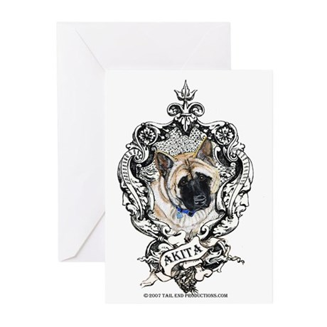 Akita Family Crest Greeting Cards (Pk of 10)