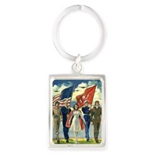Vintage Forth of July Keychains