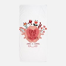 Personalized Retro Floral 1st Year Anniversary Bea