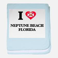 I love Neptune Beach Florida baby blanket